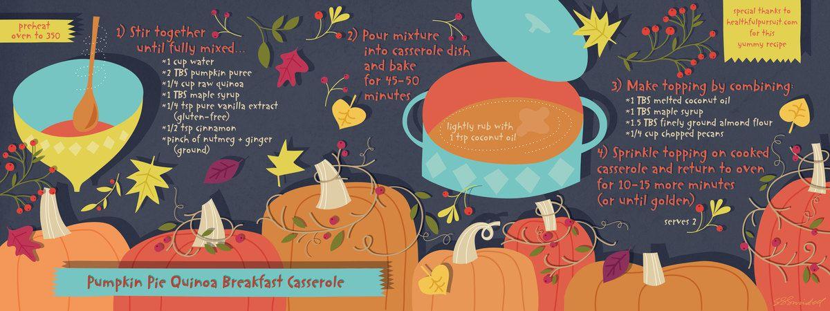Pumpkin Pie Quinoa Breakfast Casserole by Salli S. Swindell