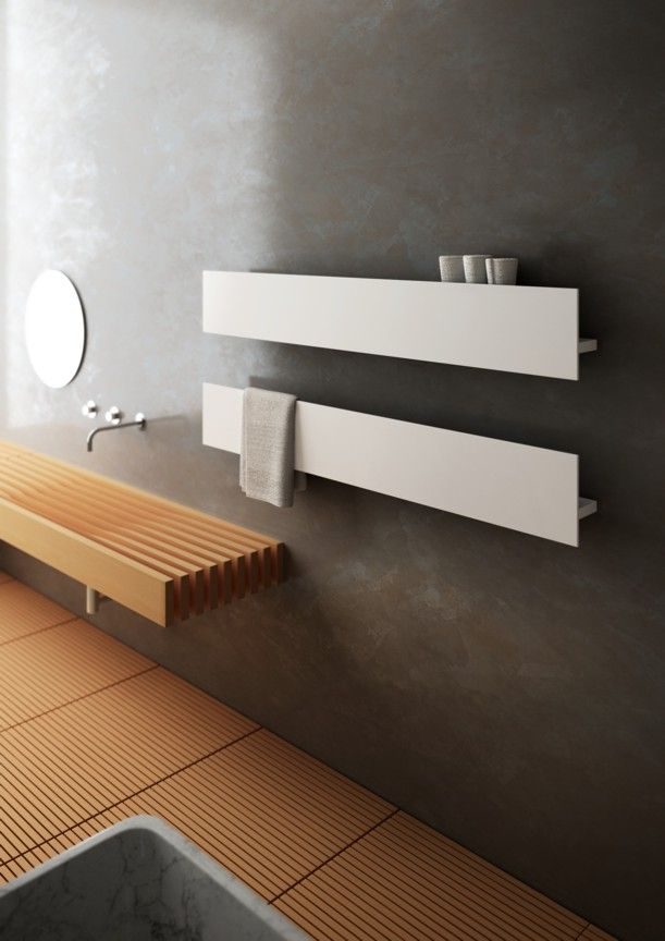Calentador Mod  SERIE T de la firma ANTRAX IT   A                             Hot water towel radiator   aluminum   contemporary   bathroom   T by Matteo  Thun   Antonio Rodriguez   Antrax IT