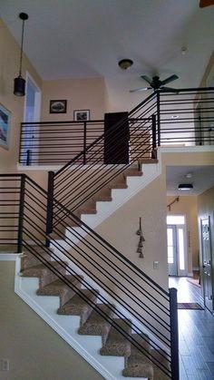 Best Gallery Horizontal Rail Stair Railing Design Metal 400 x 300