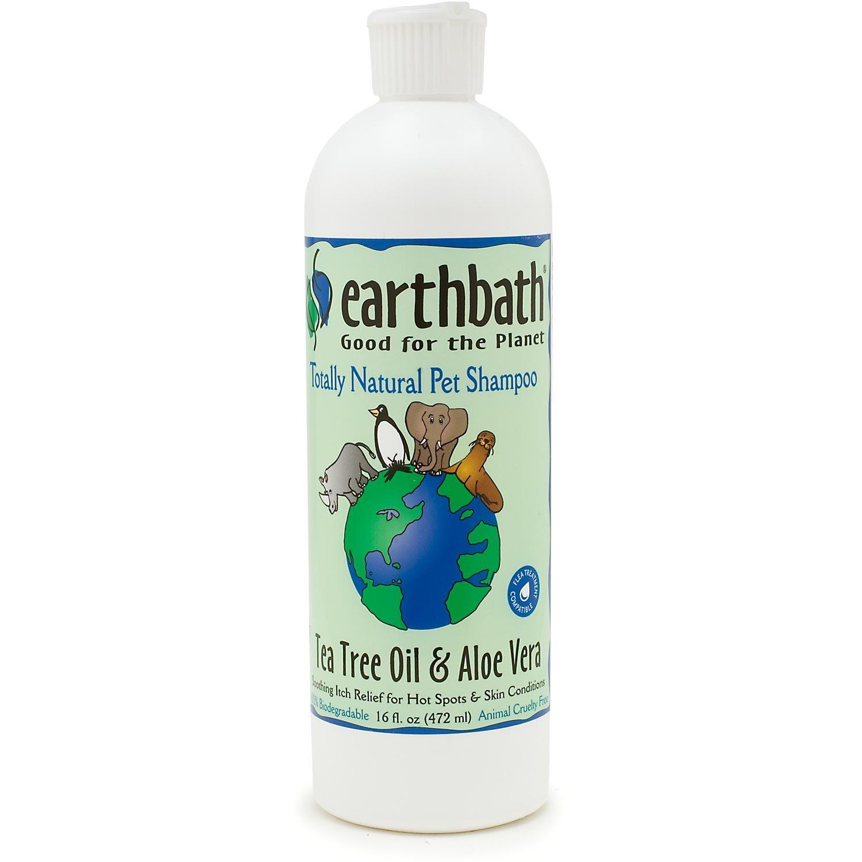 Earthbath Tea Tree Oil & Aloe Vera Natural Pet Shampoo, 16