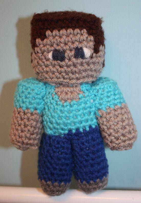 Crocheted Pocket Steve 6.5 in. by OttersCrafts on Etsy, $25.00 ...