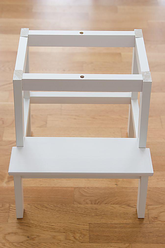 lernturm selber bauen ikea hack aus zwei hockern jo o. Black Bedroom Furniture Sets. Home Design Ideas