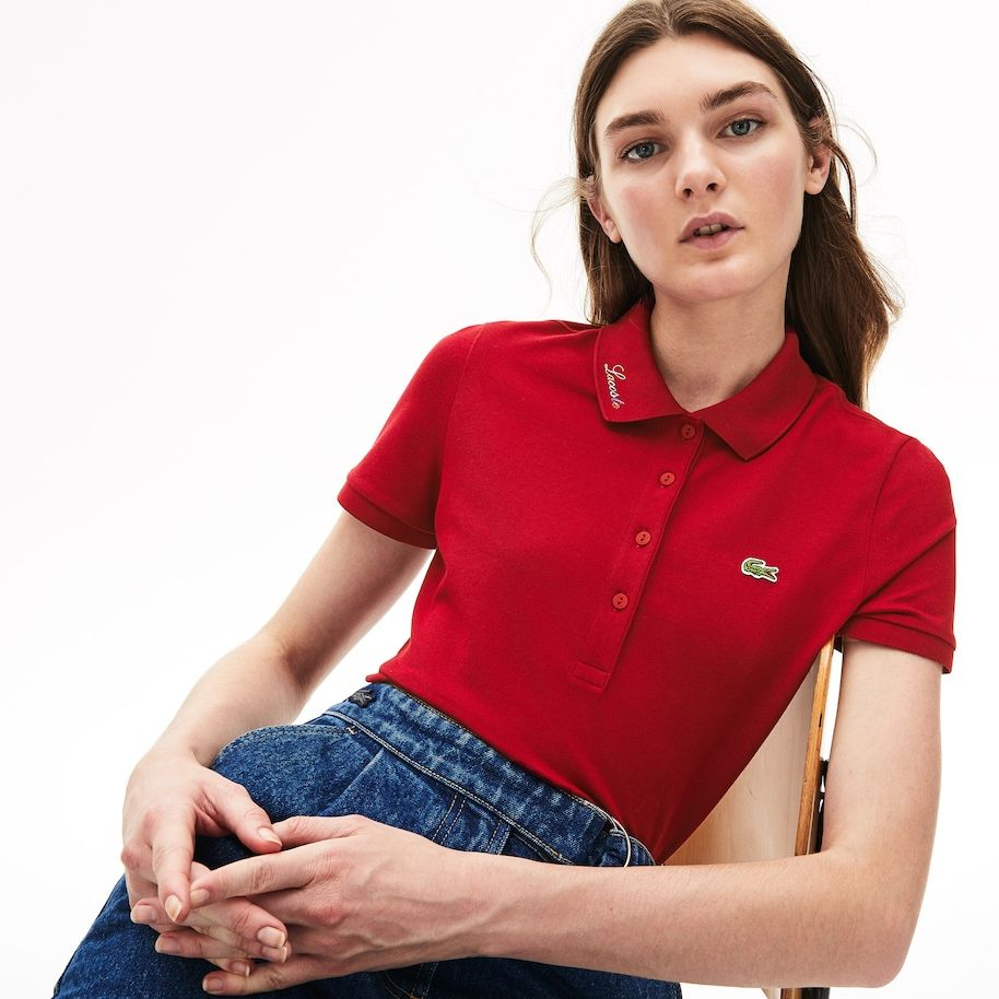 Women's Rainbow Script Collar Polo | Polo shirt women, Polo ...