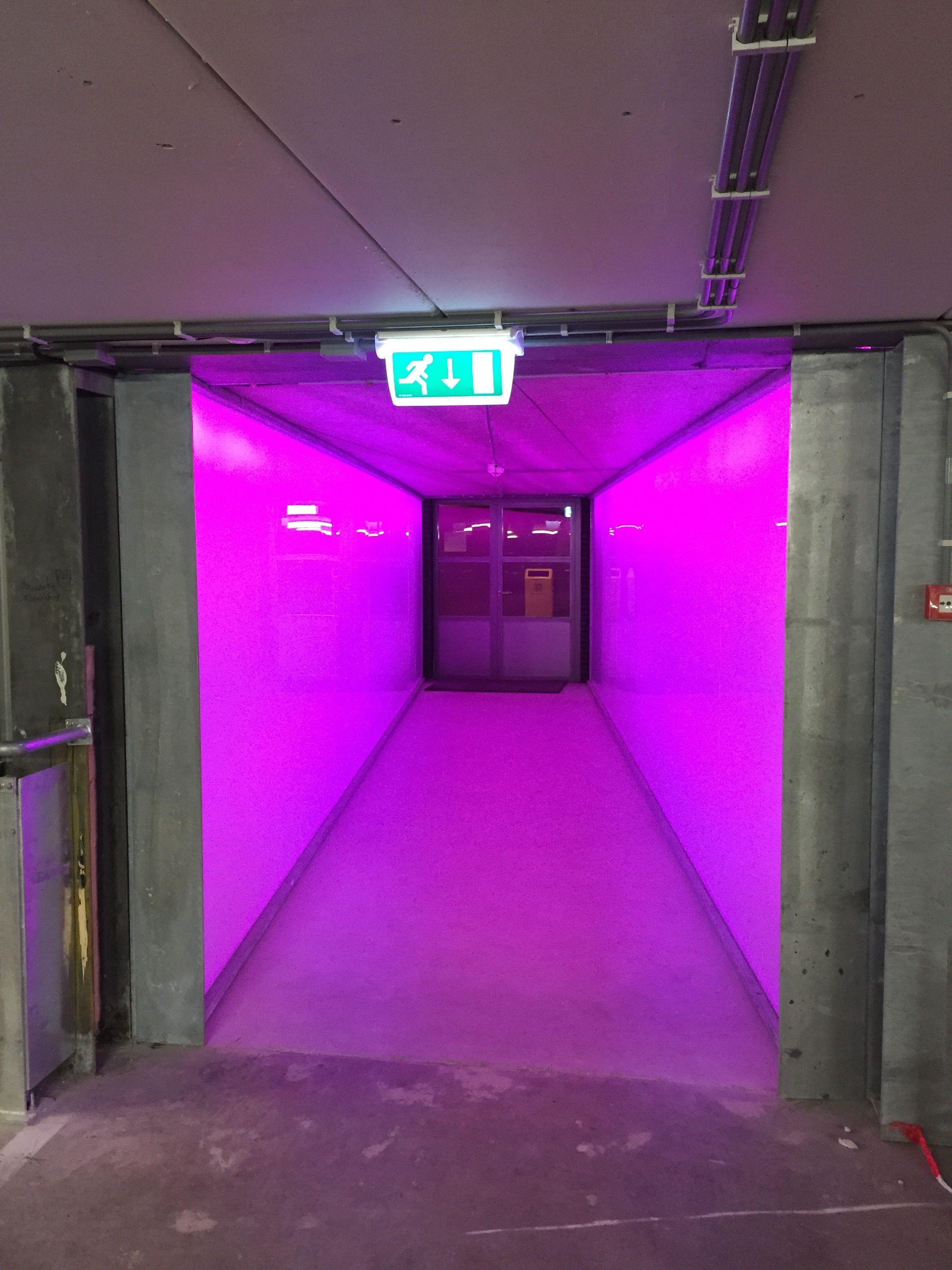 smartlightnl tunnel van licht tilburg parkeergarage tivoli