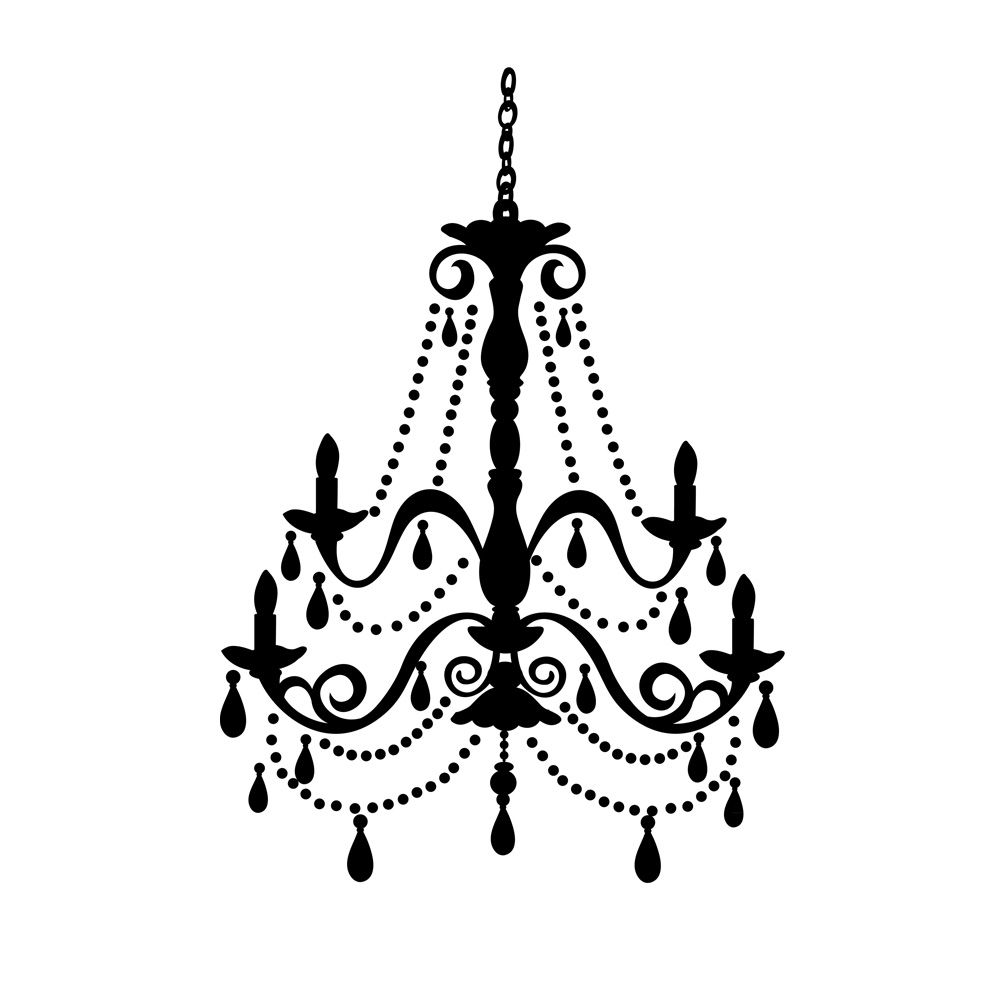 Chandeliers black wall decor roommate and wall decals chandeliers aloadofball Gallery
