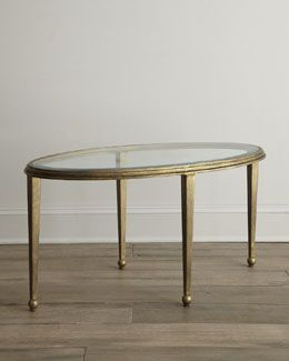 H6dtg Montague Oval Glass Coffee Table Gold Coffee Table
