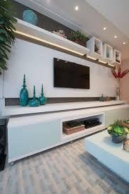 Resultado de imagen para sala de estar com painel para tv