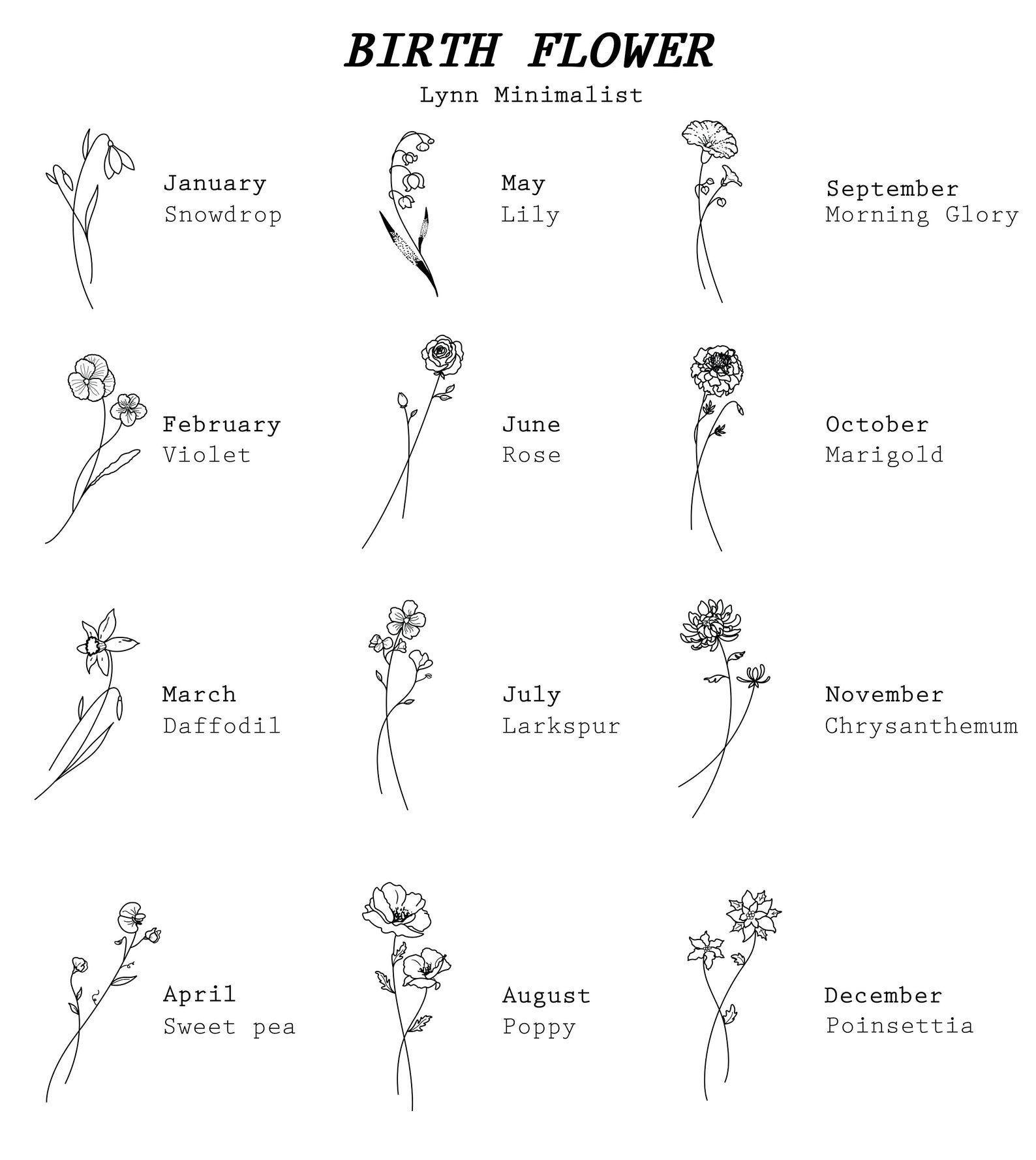 Personalized Birth Flower Earrings | Dainty Dangle