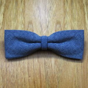 Chambray Clip On Bow Tie Indigo now featured on Fab. #blue