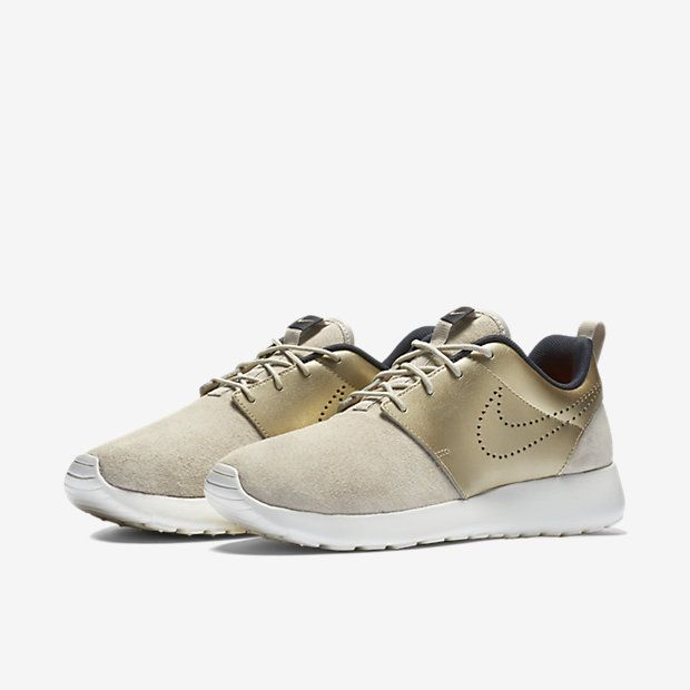 Nike Roshe One Premium Suede Women s Shoe, String Dark Storm Sail Metallic  Gold Grain 7c670683af