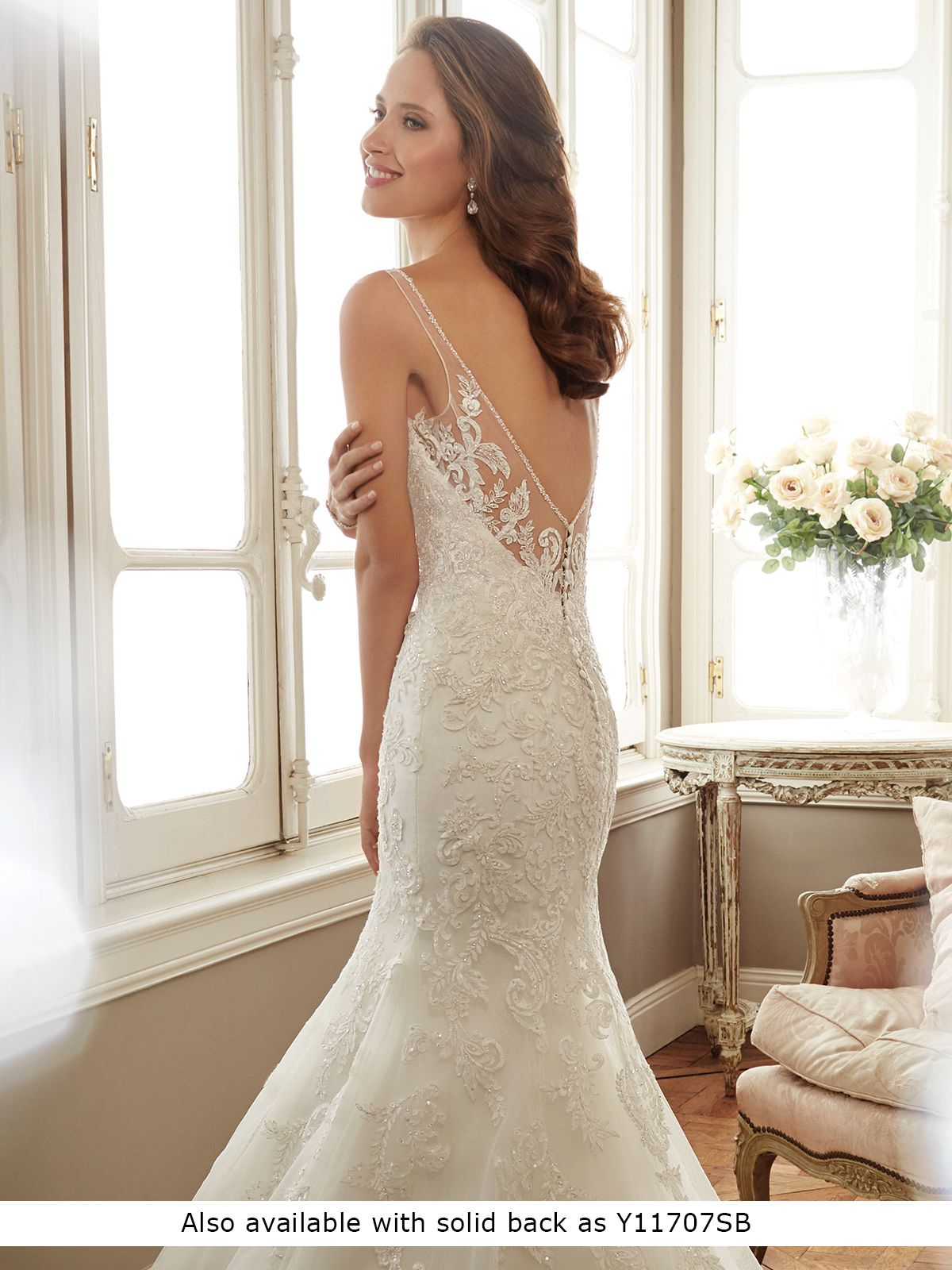 711694c1d7e0 Y11707 Margot - Sleeveless misty tulle fit and flare gown with slender  illusion shoulder straps and soft sweetheart illusion neckline edged with  crystal ...