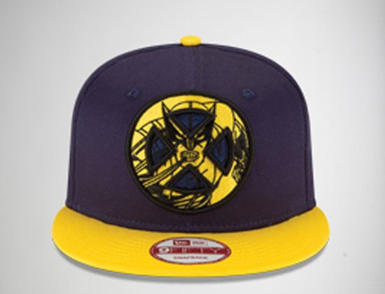 7965cd64e7052 The Wolverine Oversized Logo snapback cap is a two tone style. Embroidered  on the front is a graphic of X-Men logo and an illustration of Logan.