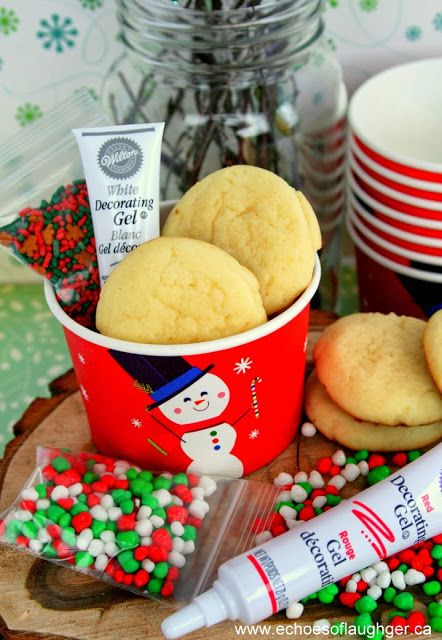 Christmas Cookie Decorating Kit.Christmas Cookie Decorating Kit In A Cup For Kids