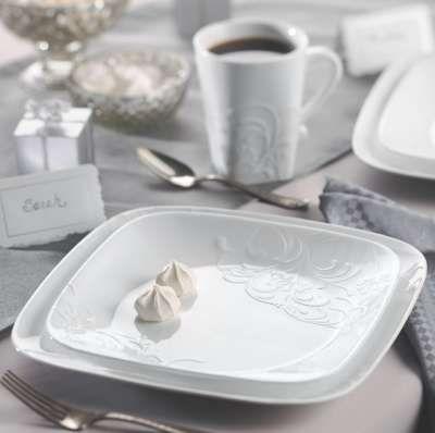Corelle Cherish Embossed Dinnerware Dinnerware Square Corelle Dishes Square Dinnerware Set