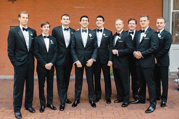 Black Tie New Year S Eve Wedding By T Bailey Tuxedoswedding Tiesblack Groomsmen
