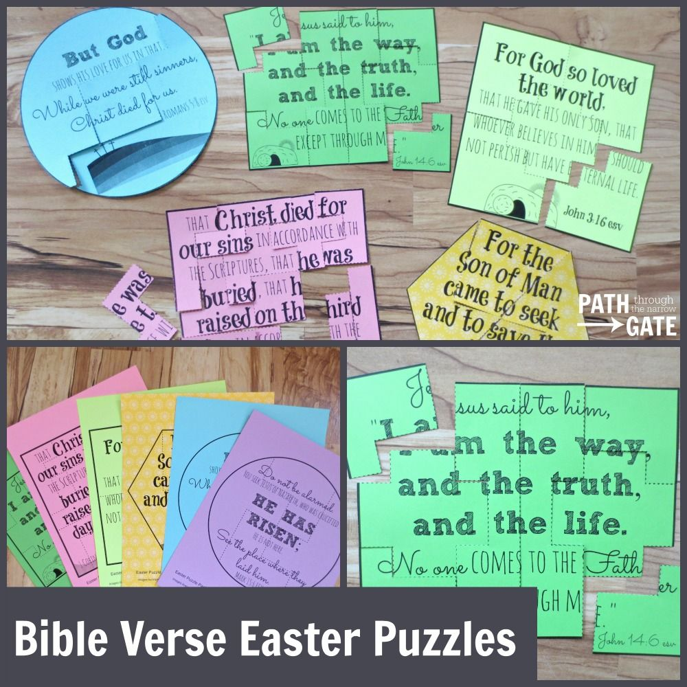 Printable Easter verse puzzles | Easter activities for kids ...