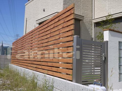 木製調プログコートf5型 エクステリア 目隠し フェンス 住宅 外観