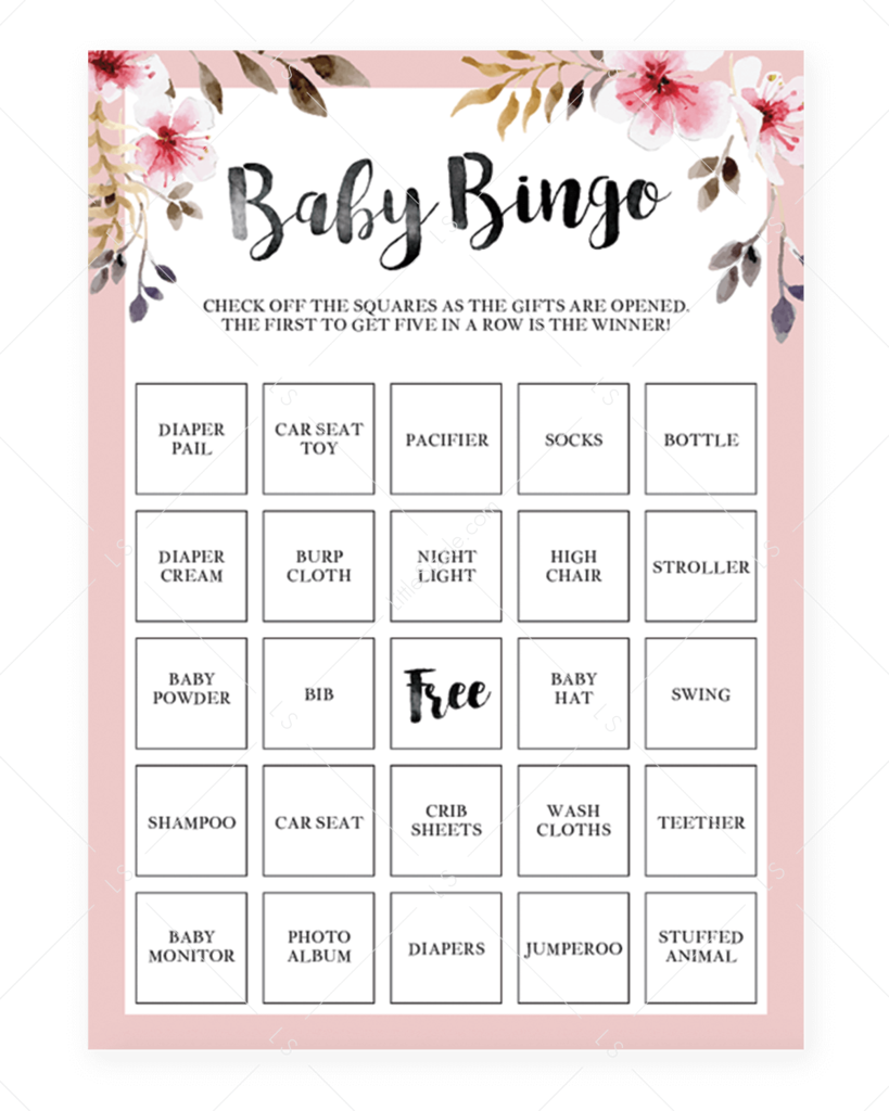 Free Printable Blank Bingo Cards For Baby Shower : printable, blank, bingo, cards, shower, Shower, Games, Bundle, Printable, Bingo, Printable,, Cards,