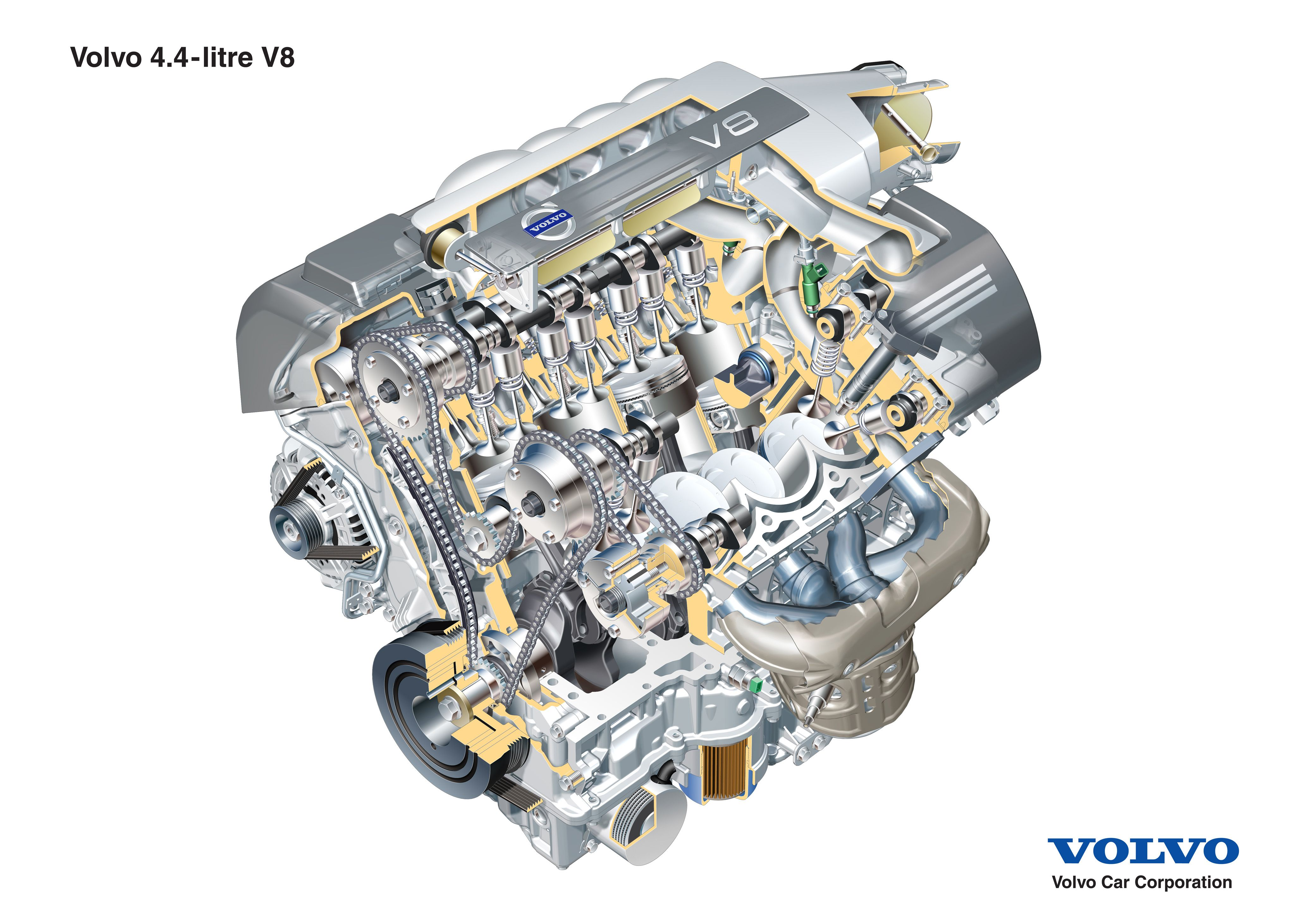Volvo 4 4 Liter Dohc V 8, Built By Yamaha Type Naturally 2003 Volvo S60 Vacuum Lines 2005 Volvo S40 T5 Engine Diagram Ford Fiesta Engine Diagram At IT-Energia.com