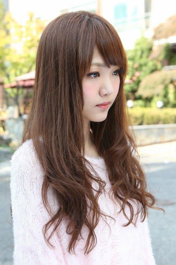 Side View Of Korean Long Hairstyle Fashion Pinterest Long