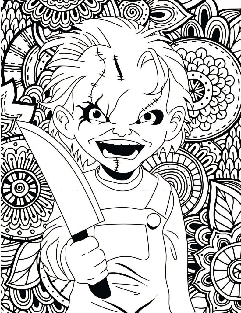 Horror Movies Printable Coloring Pages Horror Movie And Chucky