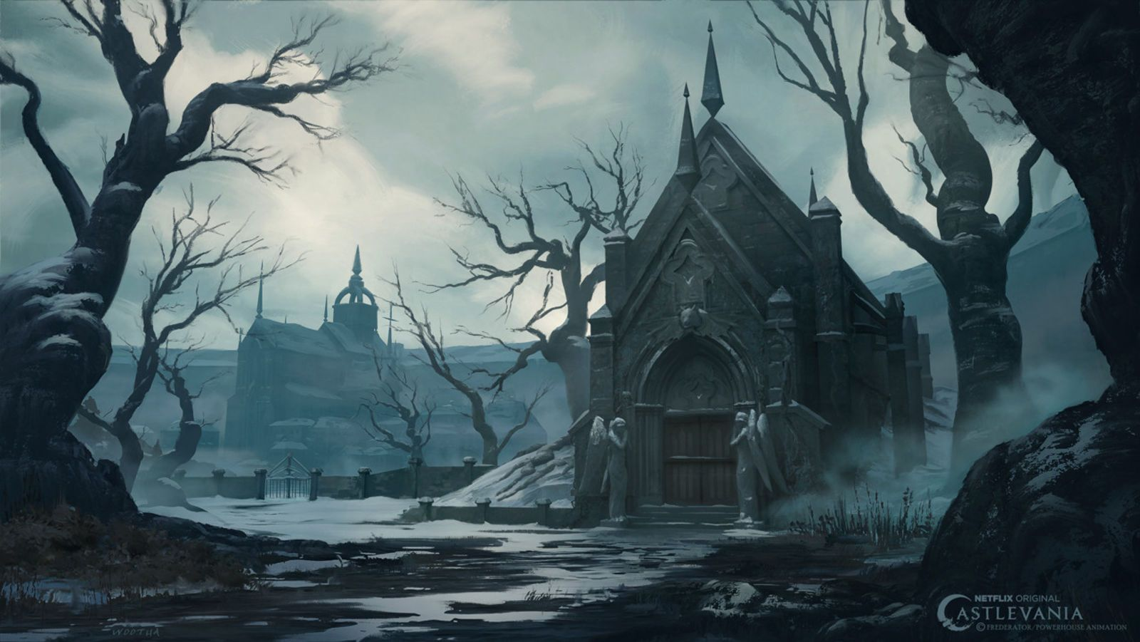 The Art Of Castlevania's Netflix Series Landscape