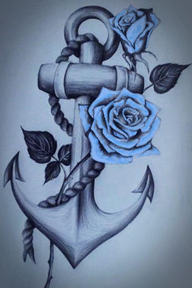 Blue rose | tattoo | Ideias de tatuagens, Tatuagem ...