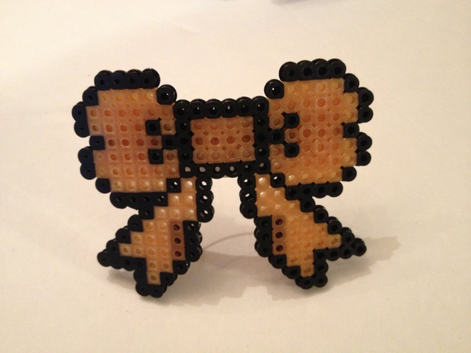8-bit Pixelated Computer Geek Large Hair Bow Barrette by PinkCoyoteDreams on Etsy