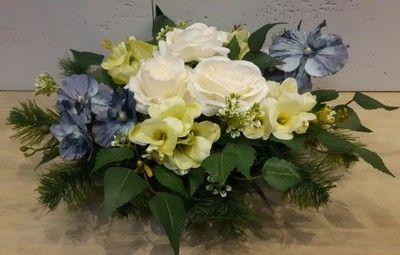 Stroik Na Grob Kompozycja Cmentarz Sztuczne Kwiaty 6490093253 Oficjalne Archiwum Allegro Flowers Floral Floral Wreath