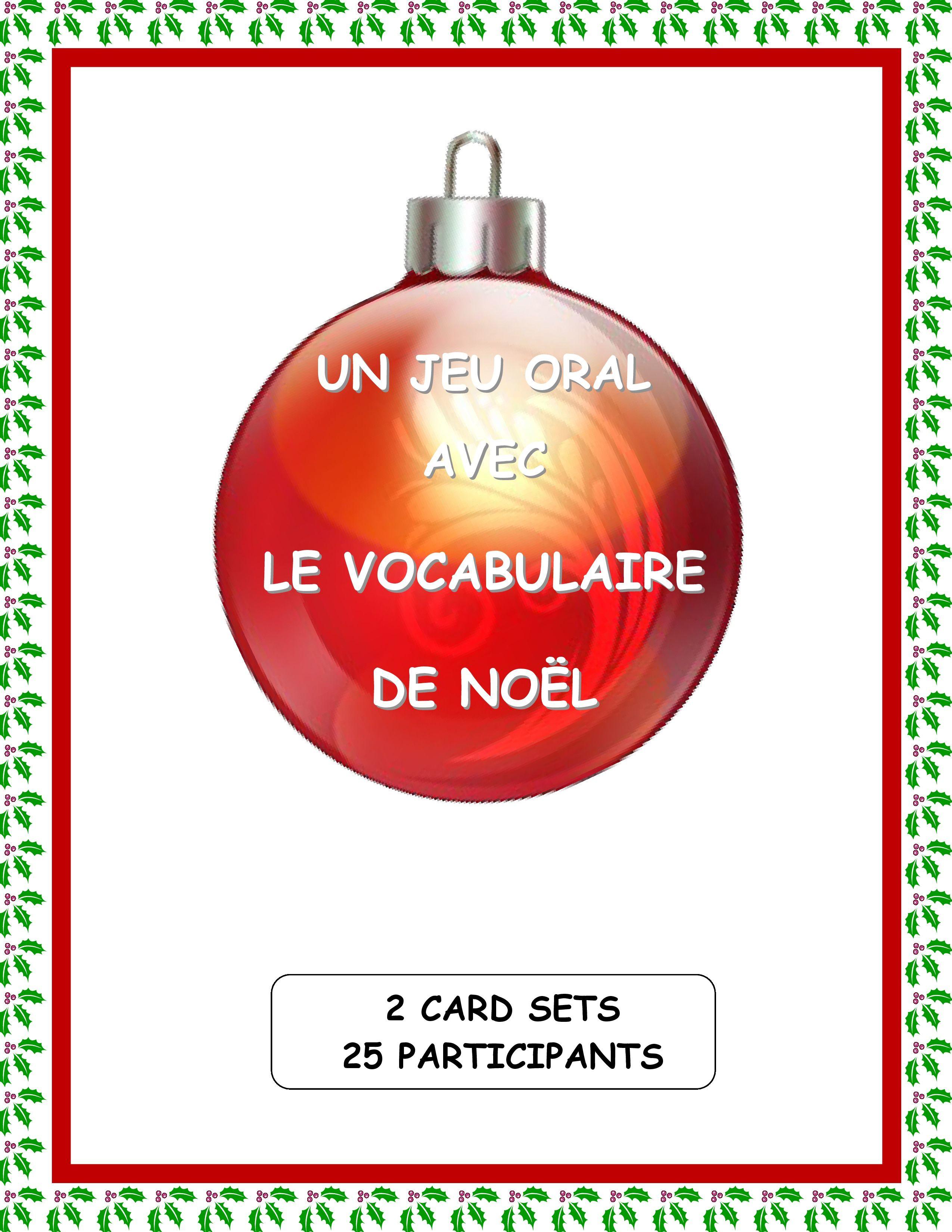 French Christmas Vocabulary Game
