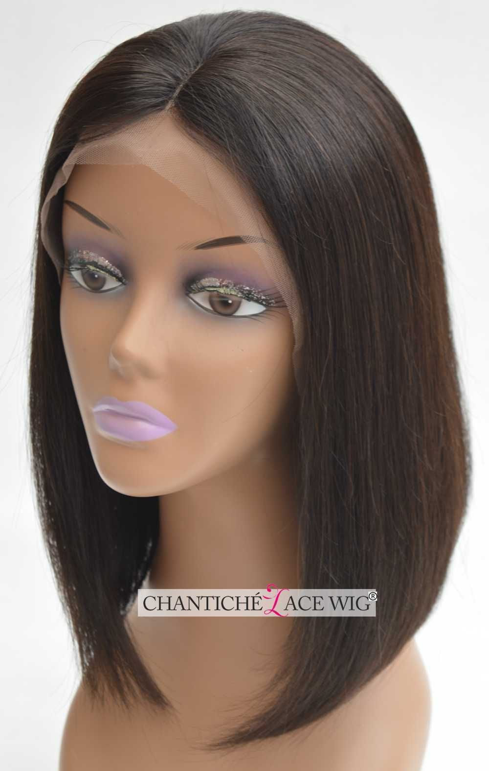 Short bob human hair front lace wigs black women a brazilian remy