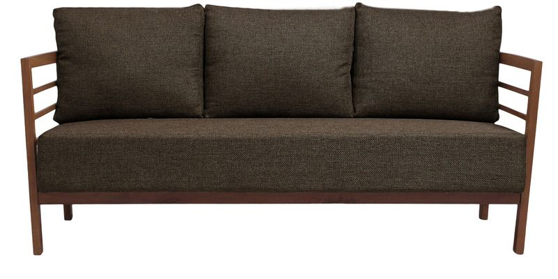 Buy Dominico Three Seater Sofa in Dark Brown Colour by ...