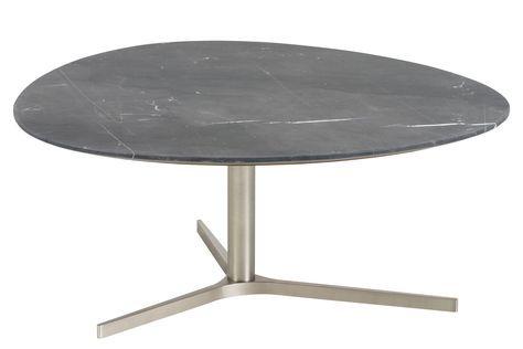 Couchtisch Ismir Schwarz Lack Matt Woody 169-00250 Marmor modern - marmor wohnzimmer tische