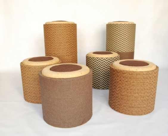 Pomada mobili di cartone dal riciclo dei tubi furniture
