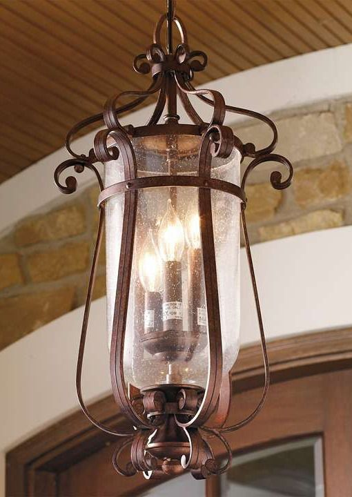 Shine light on your porch or outdoor space with the handsome burnished bronze Hartford Outdoor Pendant Light, durable enough to withstand any outdoor climate.