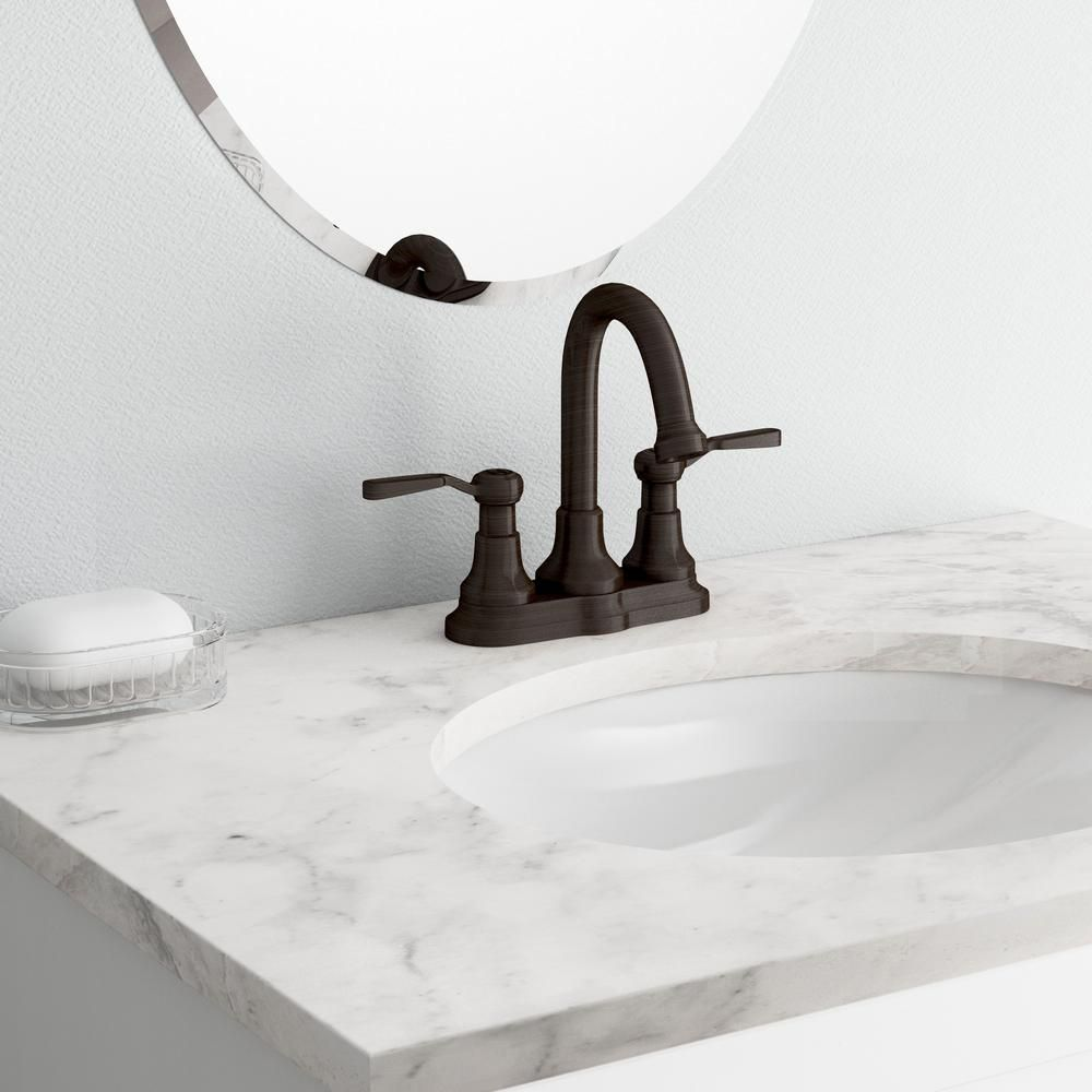 Kohler Worth 4 In Centerset 2 Handle Bathroom Faucet In Oil Rubbed