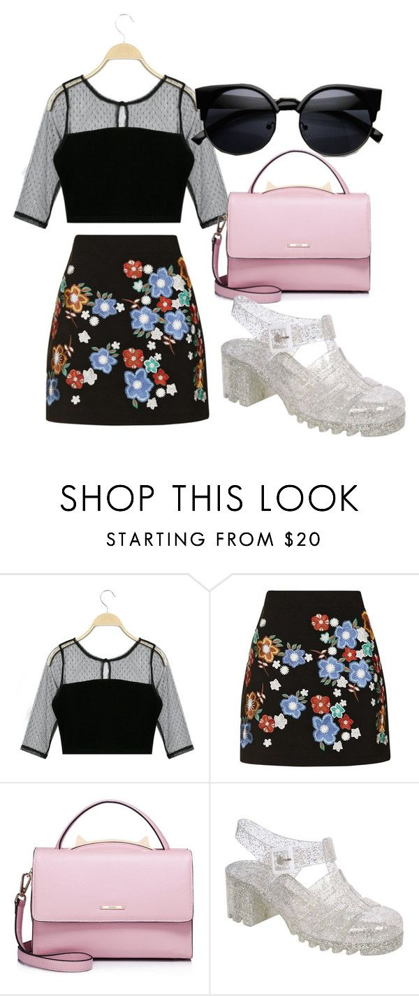 """""""Chic"""" by rachpunzeel ❤ liked on Polyvore featuring Topshop, WithChic, Pilot, clear and Seethru"""