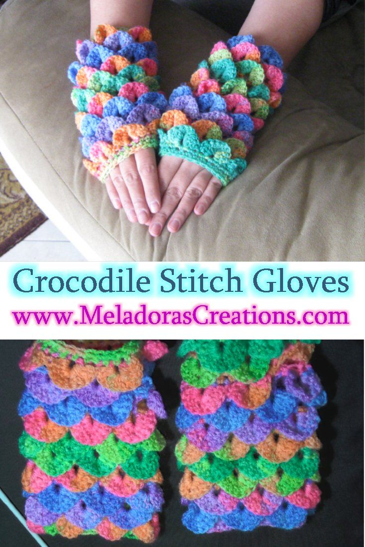 This is Your place to learn to crochet the Crocodile Stitch Finger ...