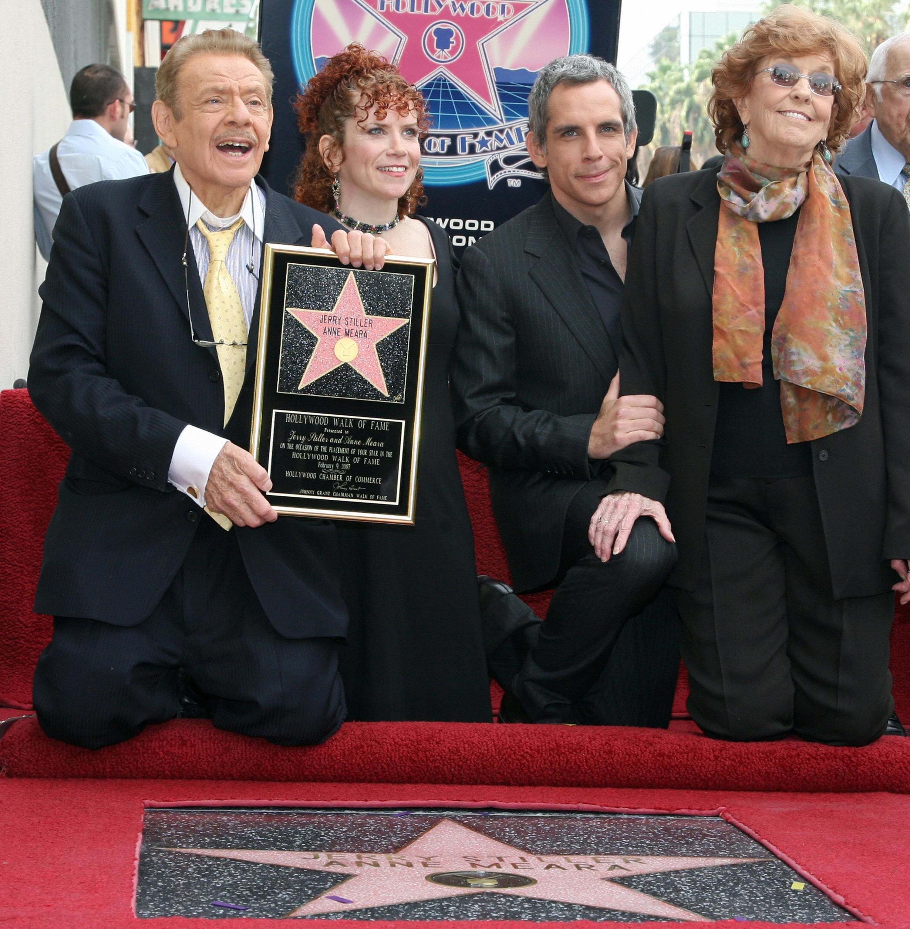 Hollywood United States Us Actors Jerry Stiller L And His Wife
