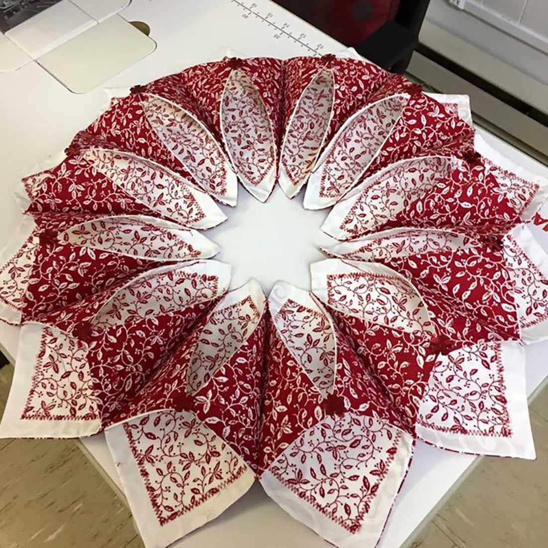 fold and stitch wreath pattern free