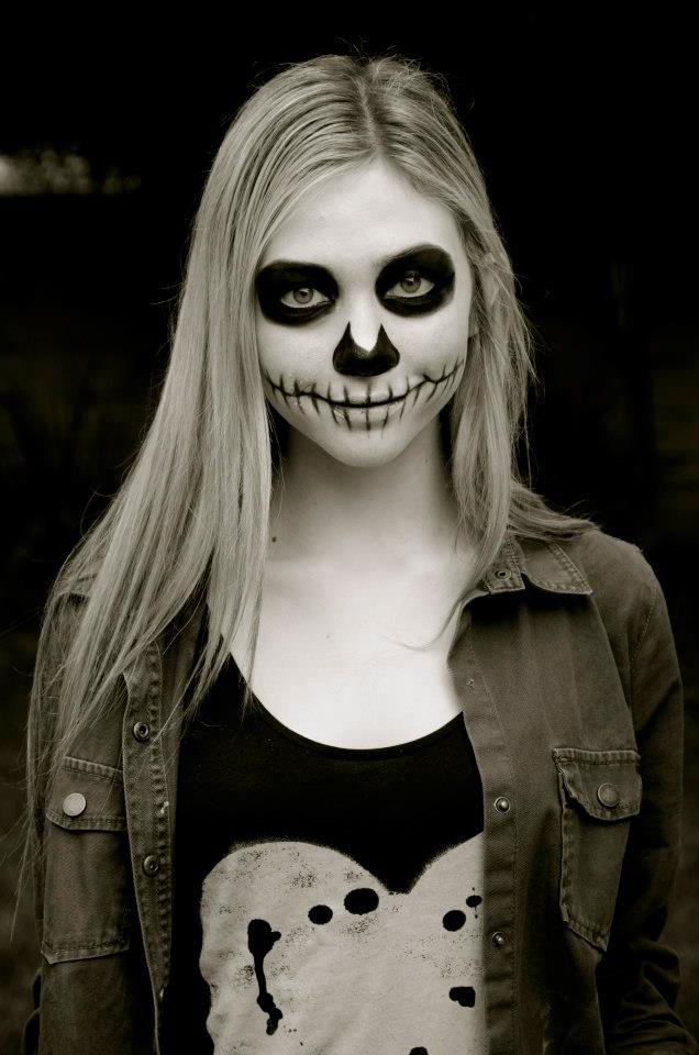 Easy Grim Reaper Makeup : reaper, makeup, Actress, Athena, Baumeister, Reaper, Makeup,, Haloween, Halloween