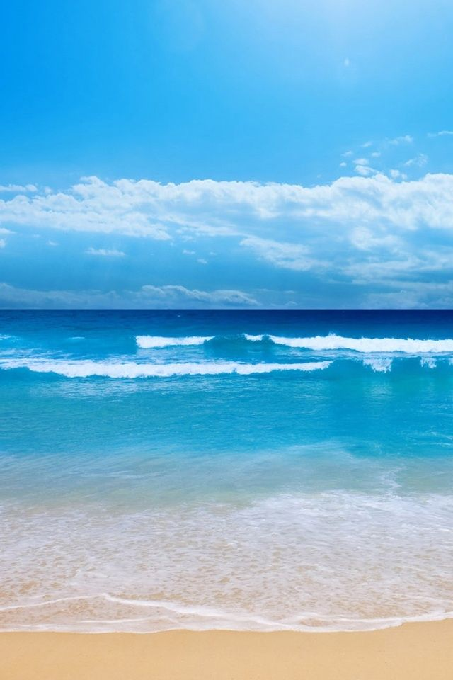 hd cool beach sea iphone 4s wallpapers | טבע ונופים - Nature | Pinterest | Beach wallpaper ...
