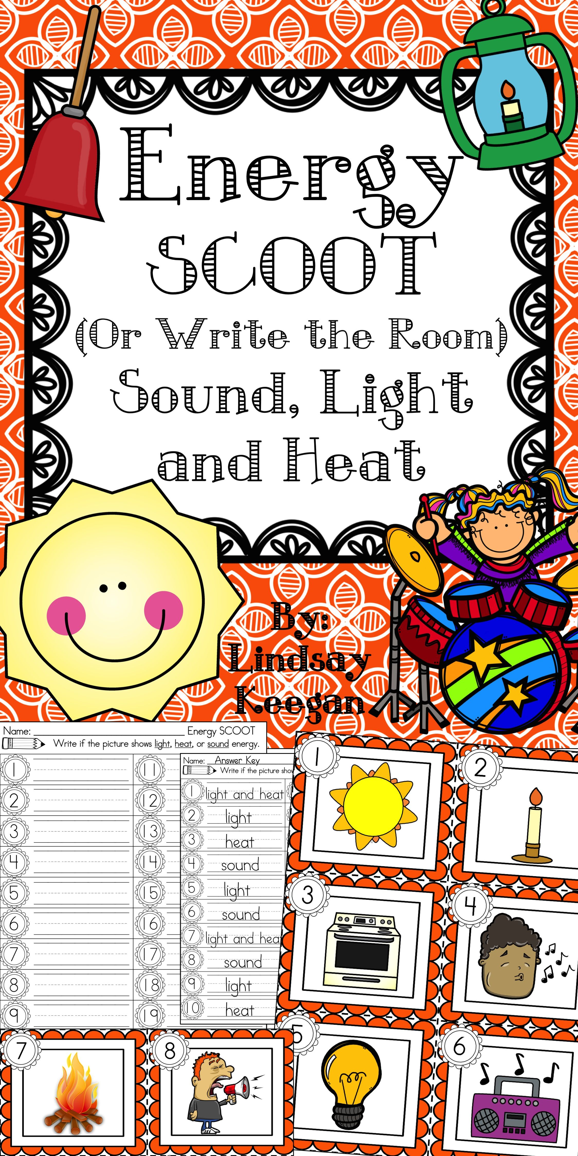Energy Scoot Or Write The Room Labeling Light Sound And Heat First Grade Science 1st Grade Science Sound Energy [ 4499 x 2249 Pixel ]
