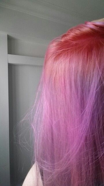 24 09 15 Pink Roots And Purple Pink Hair Bleached My Black