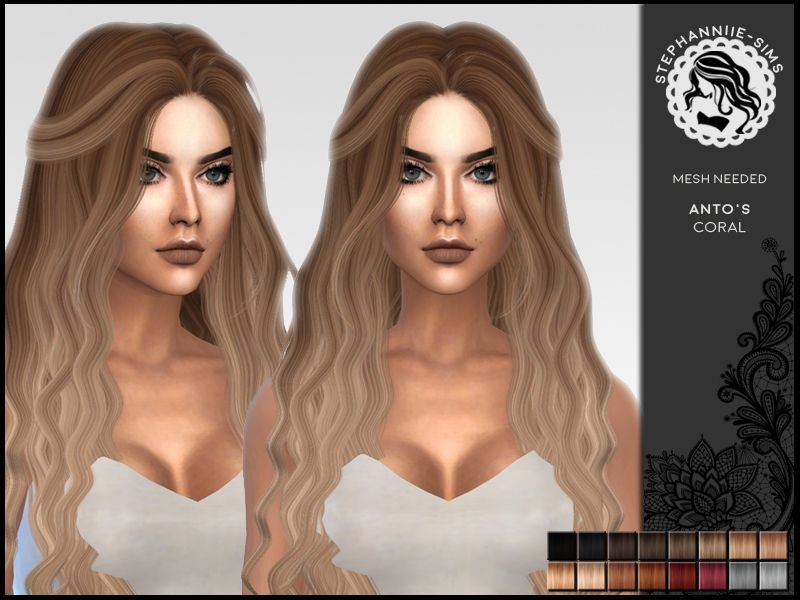 The Sims Resource Coral Hair Retextured By Stephanniie Sims Sims 4 Hairs Sims 4 Sims 4 Curly Hair Womens Hairstyles