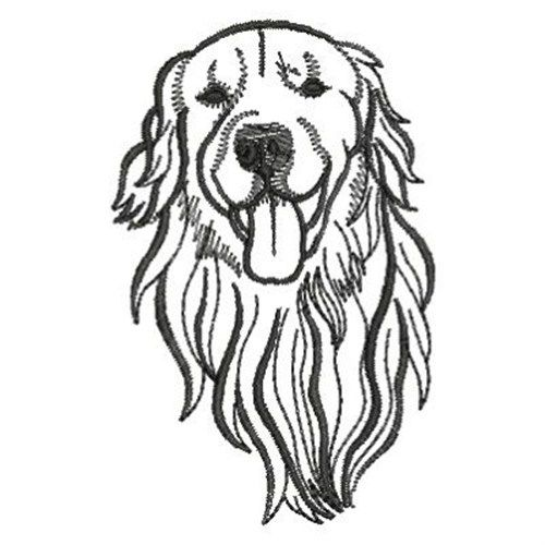 golden retriever embroidery design embroidery patterns pinterest dog outline outlines and. Black Bedroom Furniture Sets. Home Design Ideas