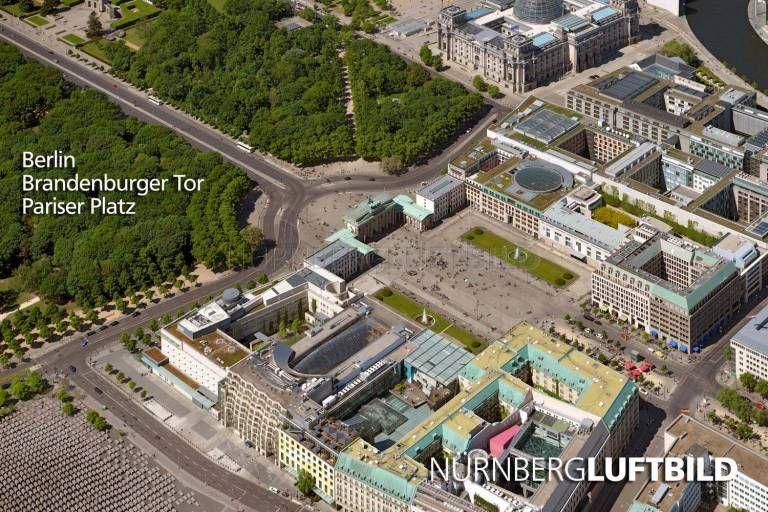 Berlin In 2020 Berlin Brandenburger Tor Luftaufnahme