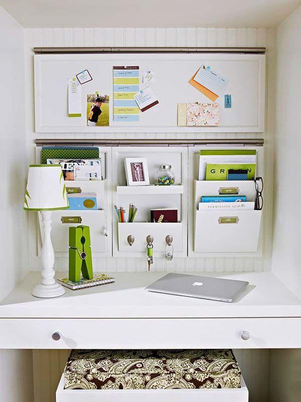 12 idee salva spazio per la zona ufficio in casa - arredo idee ... - Casa Diy Arredamento Pinterest