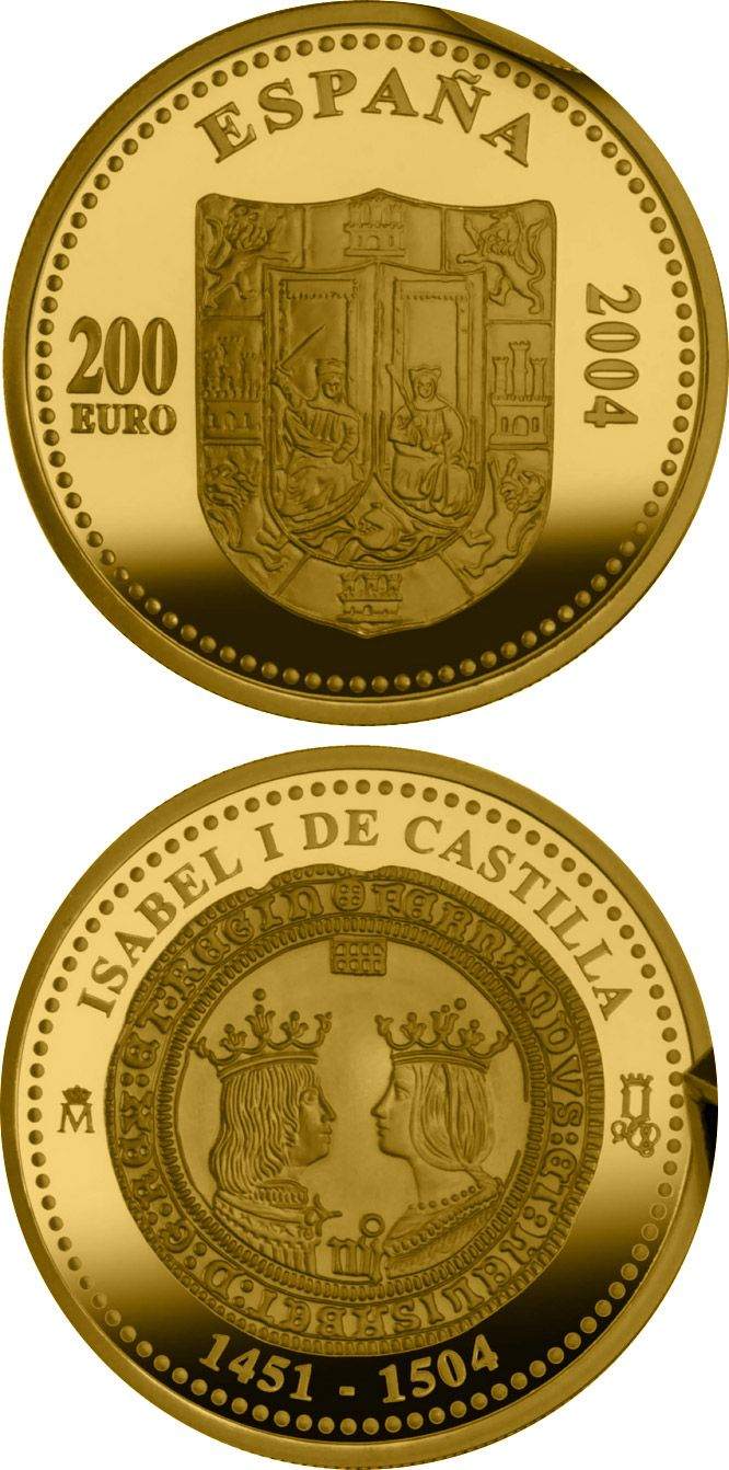 N♡T.200 euro 5th Centenary of Isabella I of Castile