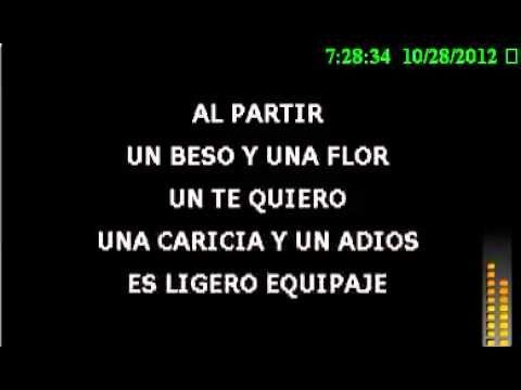 Karaoke Un Beso Y Una Flor Nino Bravo Youtube Youtube Karaoke Songs